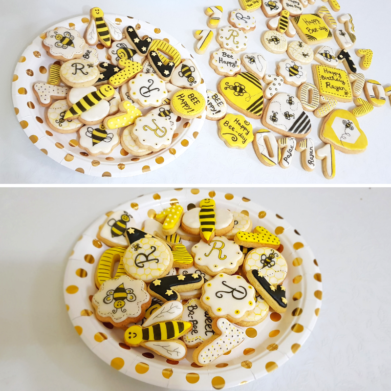 Bumble Bee cookies decorated