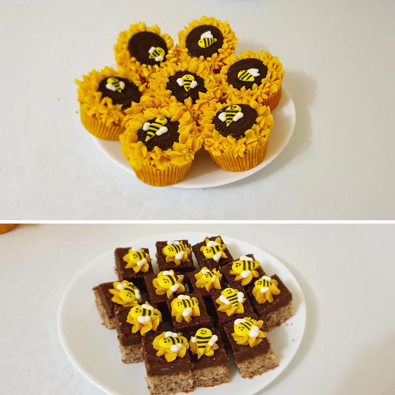 Bee Celebration desserts