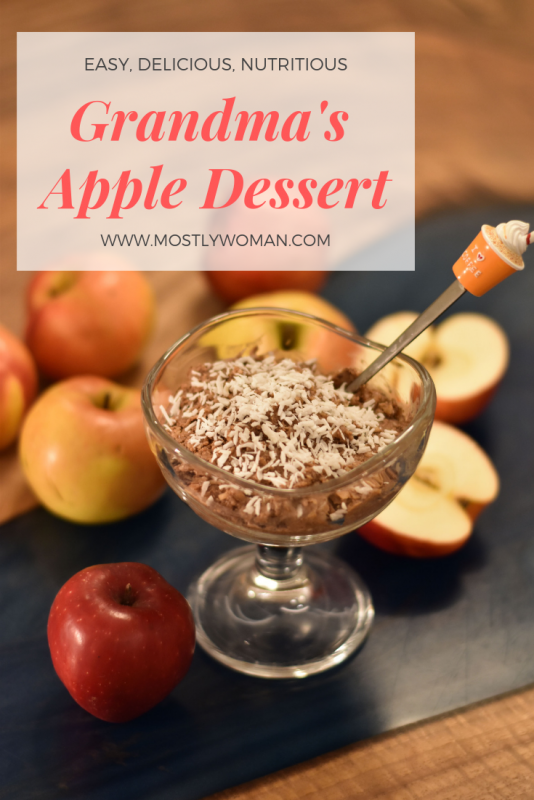 Grandma's fresh apple dessert