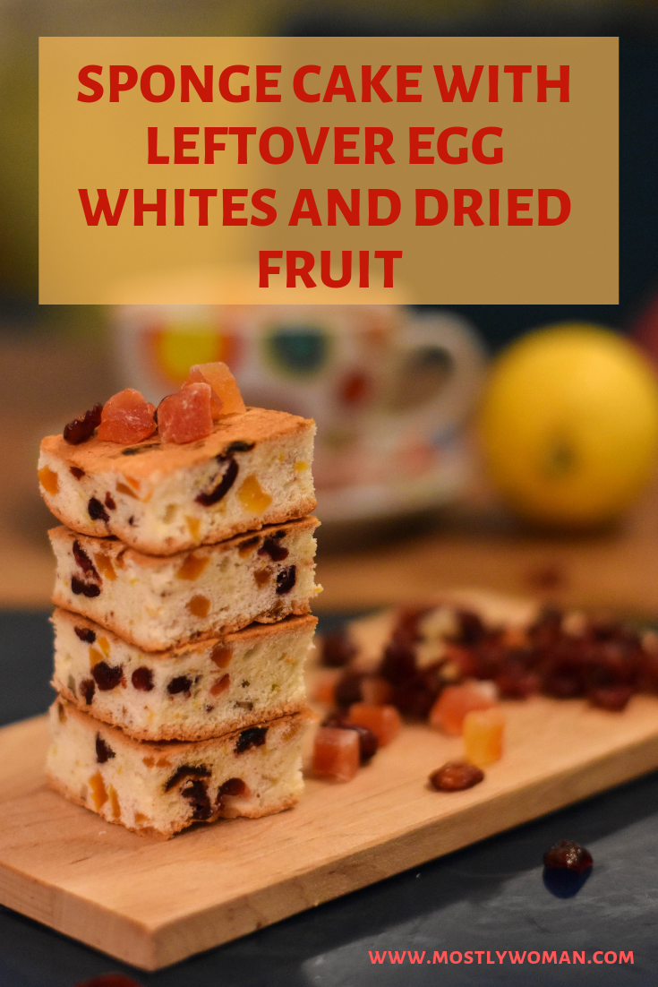 Sponge Cake with Leftover Egg Whites and Dried Fruit