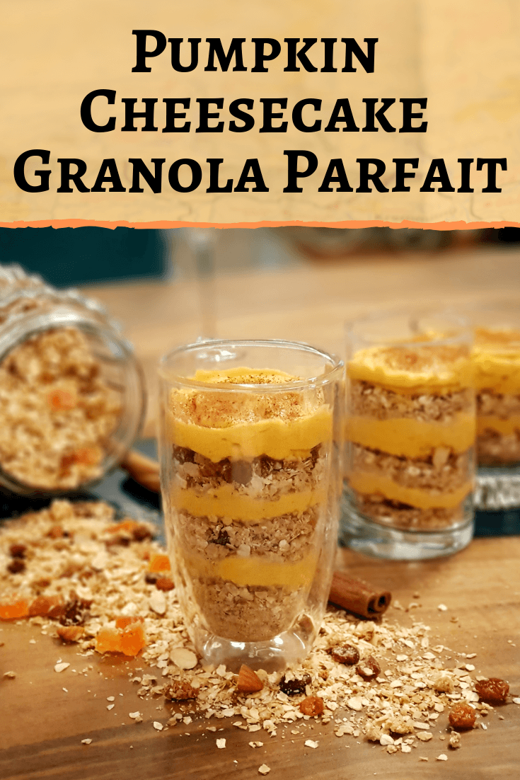 Pumpkin Cheesecake Granola Parfait