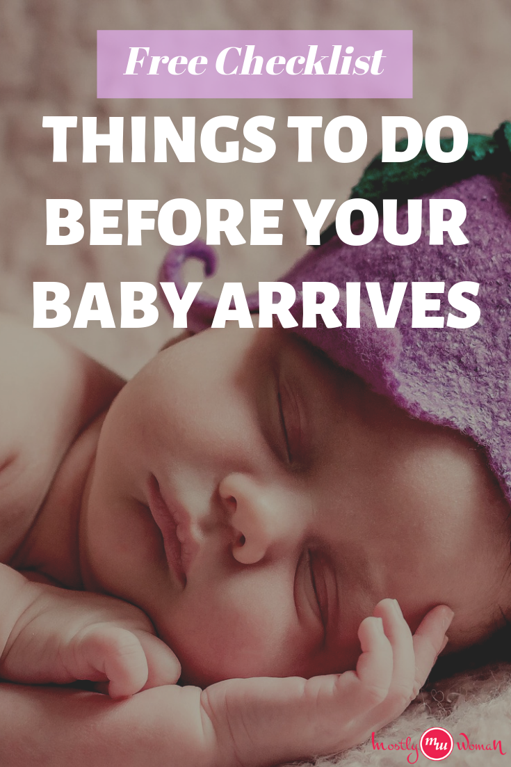 Free Checklist, Things to do before your baby arrives