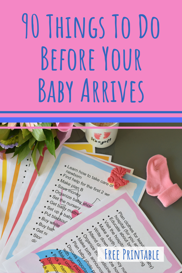 90 Things To Do Before Your Baby Arrives, free printable checklist