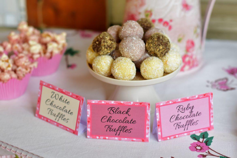 chocolate truffles, baby shower food ideas